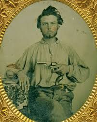 """Clay County contained some of Missouri's most avid Confederates, and Zerelda was no exception. She supported secession and her son Frank's decision to head off in 1861 to join a state militia that ended up fighting for the South. When regular Confederate forces were driven from the state, Frank came back home, but he set off again in May 1863 to serve with the """"bushwhackers,"""" guerrillas eager to continue the war against Union soldiers and civilians alike."""