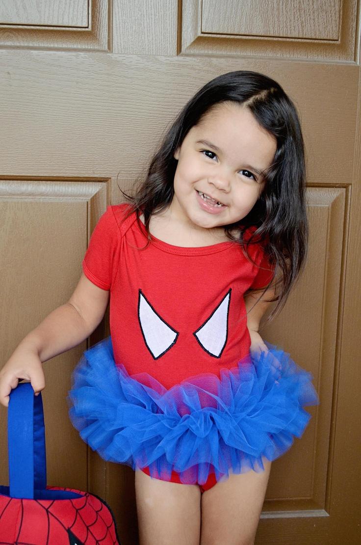 Spider Girl Tutu Bodysuit Superhero Costume Toddler Baby