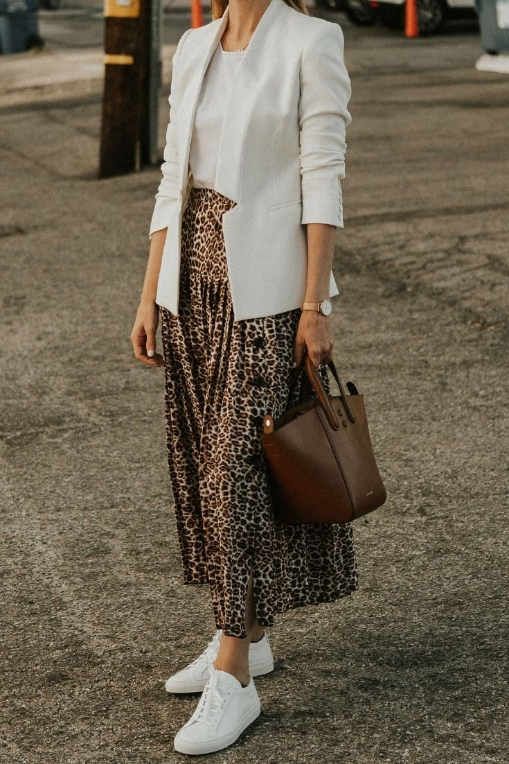 Ideas on how To Style A Leopard Midi Skirt and whi…