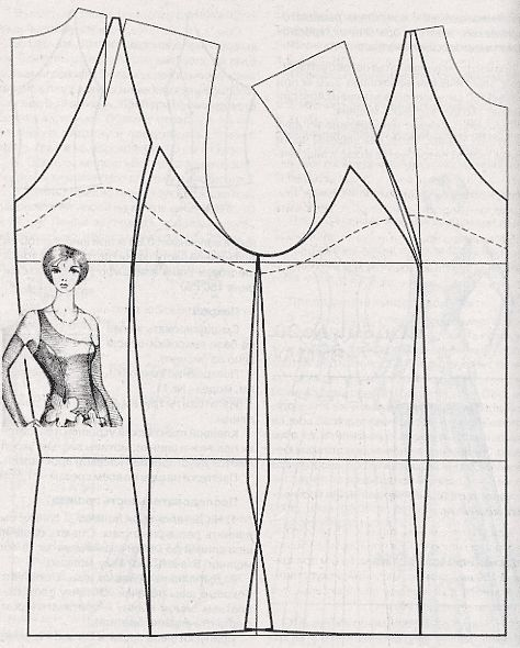 pattern making - one shoulder top