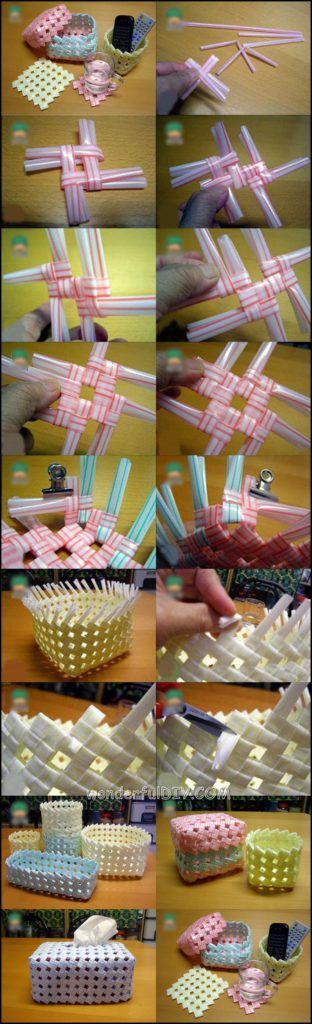 basket from drinking straw m.w