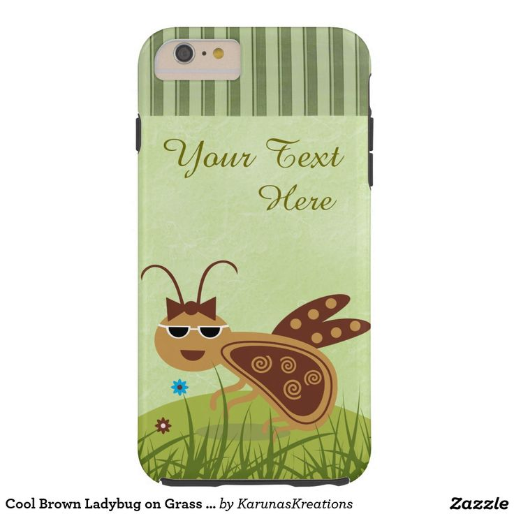 Cool Brown Ladybug on Grass iPhone 6/6s Plus Case