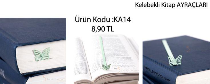kelebekli en güzel kitap ayraçları ve fiyatları
