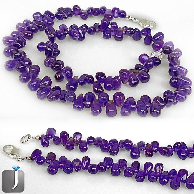 215.60cts EXCELLENT PURPLE AMETHYST SILVER NECKLACE BEADS JEWELRY C92358 #JEWELEXI #LOOSEBEADS