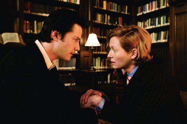 "Keanu Reeves and Tilda Swinton in ""Constantine"""