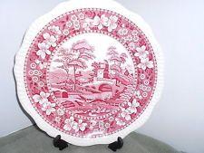 Vintage Copeland SPODE'S TOWER Pink Dinner Plate Old Mark England L63