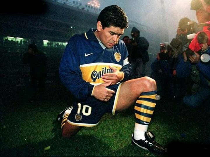 Su ultima etapa en Boca juniors... Maradona