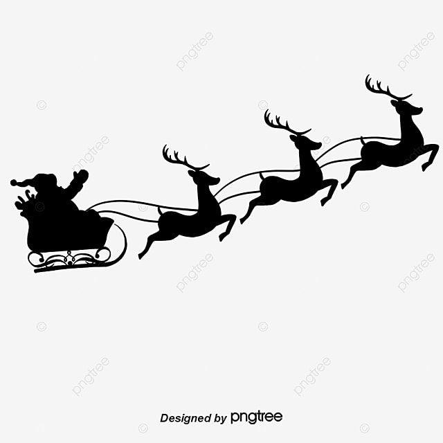 Fotos De Natal No Dia De Natal Papai Noel Rena Imagem Png E Psd Para Download Gratuito Silhouette Christmas Reindeer Silhouette Santa Claus Vector