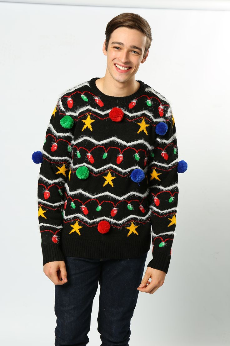 This fantatically kitsch jumper has proven to be our most popular for 2016!  Have you got the balls to wear it..... #Kitsch #ChristmasJumpers #FestiveFashion #Pompoms #Novelty #Bestseller #Wholesale #AdultsFashion #TheChristmasJumperGrotto #NationalChirstmasJumperDay #MensJumpers #WomansChristmasJumpers