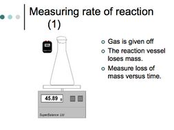 Presentation about reaction rates and collision theory