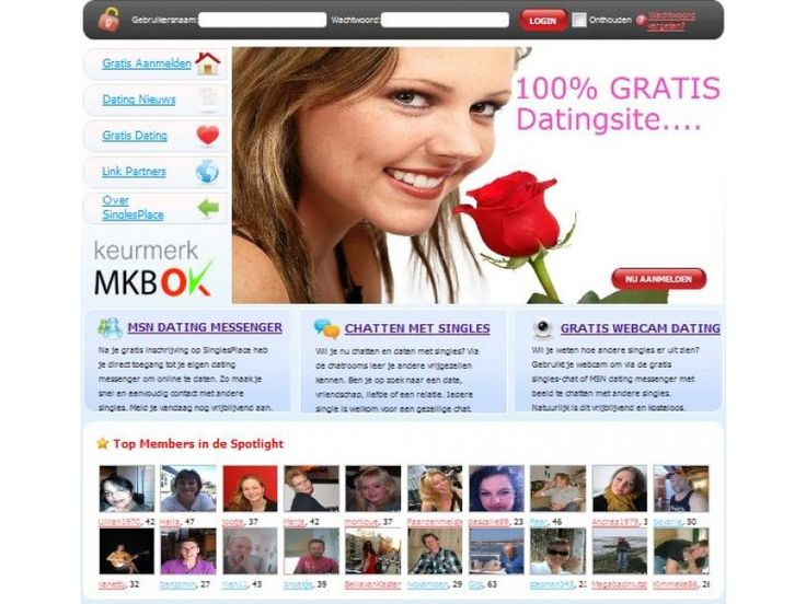 100% Gratis Datingsite voor gratis dating op SinglesPlace.nl