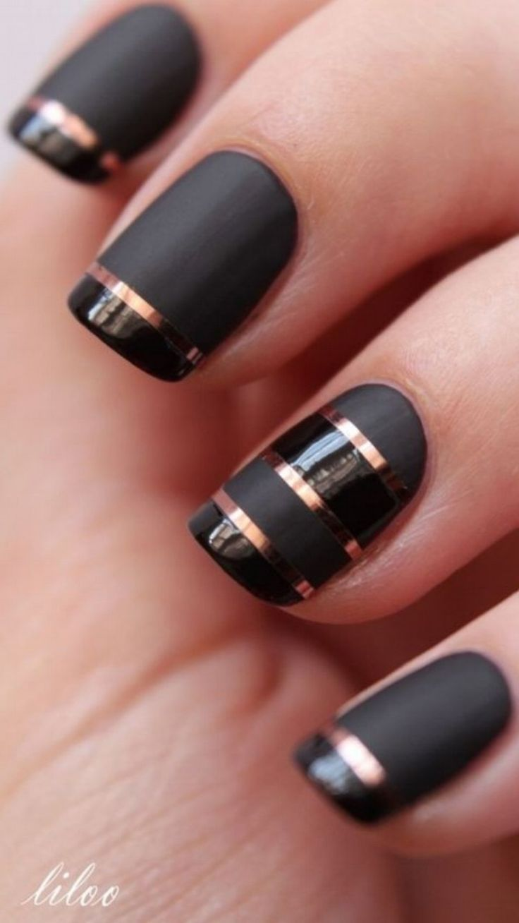 Perfect Nail Designs With Striping Tape #nails #nailart