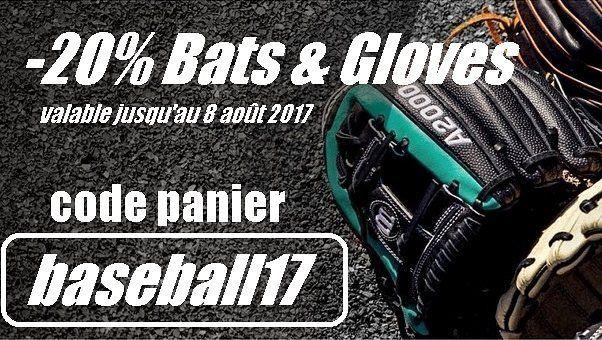 -20% sur les gants et battes de baseball jusqu'au 8 août 2017  @sportland_american  #sportlandamerican #wilson #gloves #baseball #sales #soldes #bats #soldes