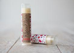 Bálsamo Labial Frutos Rojos hecho a mano con ingredientes de origen 100% vegetal//  Handmade Natural Lip Balm Summer Fruit flavour.  cosmética natural