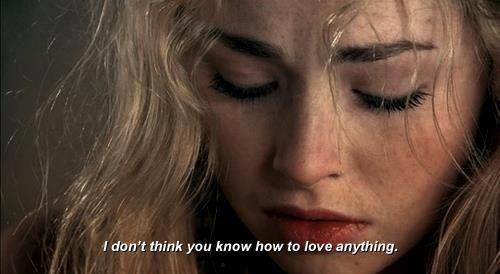 """I guess I shouldn't have expected you to know how to love,"" The look on her face made Talish immediately regret those words. Lyra stood and turned away from him. ""Lyra!"" She didn't stop and he knew he'd hurt her. (Freya Mavor as Mini McGuinness in Skins)"