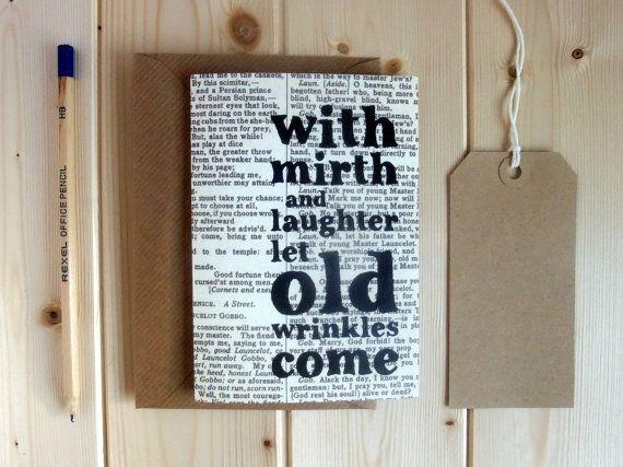 Shakespeare Quote blank notecard set of greetings by BookishlyUK, £2.40