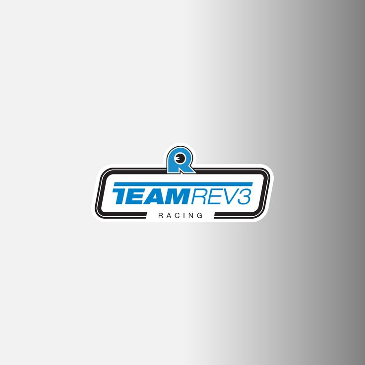 Team Rev3 Racing Logo Decals, .75""