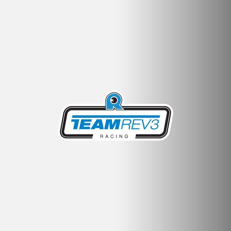 "Team Rev3 Racing Logo Decals, .75"""