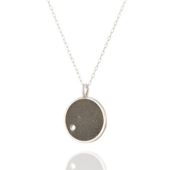 Hole Concrete Necklace, by BAARA Jewelry. $120
