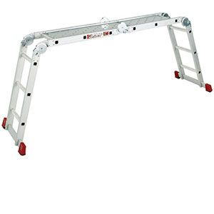 And here we have the contortionist of the ladder family. This multi-position ladder will have you reaching awkward corners in no time. It's sturdy platform creates a solid walkway for you to move safely along. It's also great for bypassing  extra large mole hills... https://www.esedirect.co.uk/p-4851-multi-purpose-ladder-and-work-platform.aspx