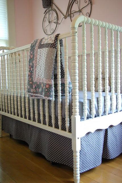 Oleander and Palm: Crib Skirt Pattern