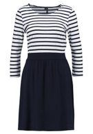Vero Moda VMNIA 3/4 DRESS - Robe en jersey - night sky/snow white - ZALANDO.BE
