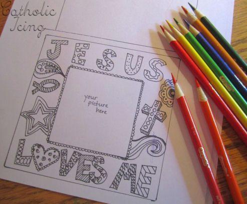 Jesus Loves Me Cd Picture Frame Bible Crafts Pinterest