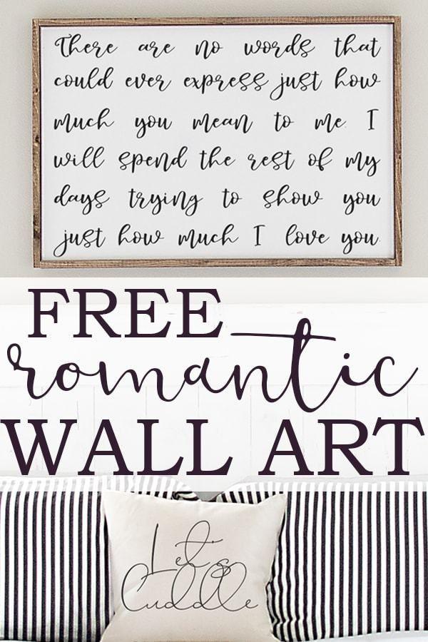 Romantic Wall Art Free Romantic Quote Print Svg