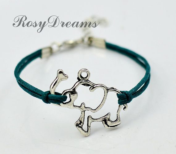 The elephant Charm Bracelet  Silver elephant Charm by RosyDreams, $1.00