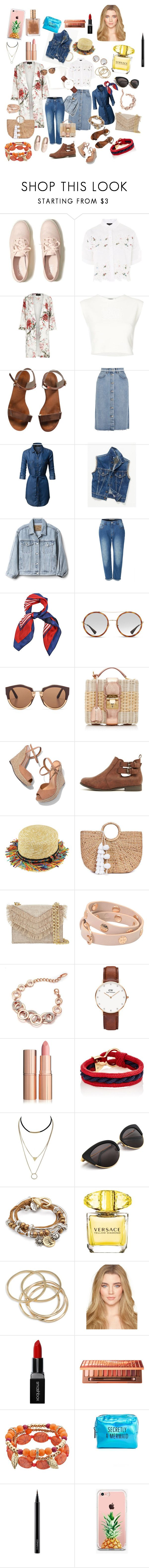 """""""Untitled #2"""" by svetlana-maiorova ❤ liked on Polyvore featuring Hollister Co., Topshop, River Island, Puma, Emporio Armani, M.i.h Jeans, LE3NO, Free People, Gap and Gucci"""