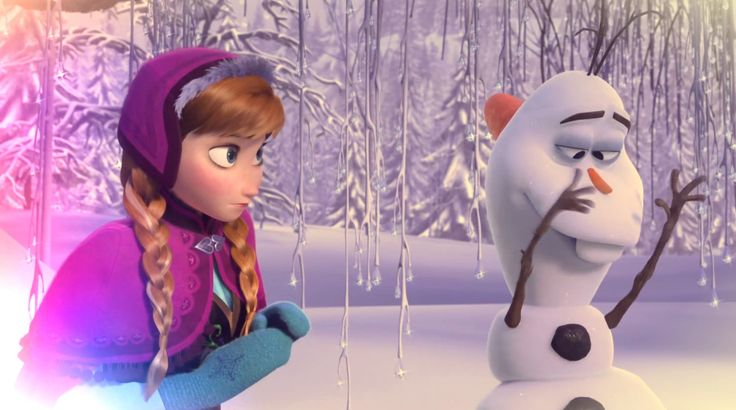 Anna And Olaf From #Disney's #Frozen.
