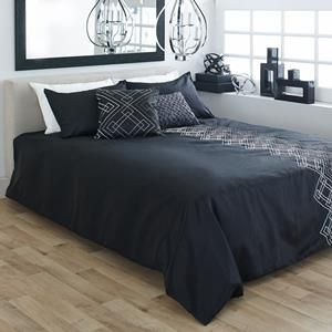 collection toga ensemble de douillette 3 pi ces douillettes literie noir. Black Bedroom Furniture Sets. Home Design Ideas