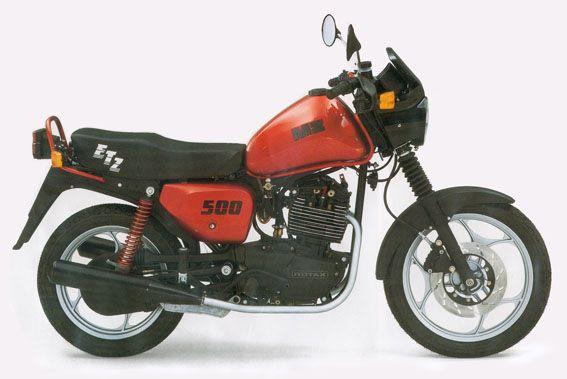 MZ 500R 1991-1992  Am Anfang stand die MZ 500 R als preiswertes Einstiegsmodell. Mit Rundscheinwerfer und einfacher Lampen-Cockpitschale.