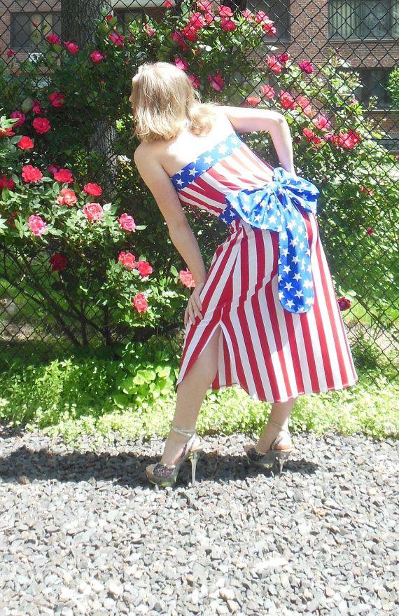 American Flag Dress with Bow AF007 Original price: by TanyaKolser