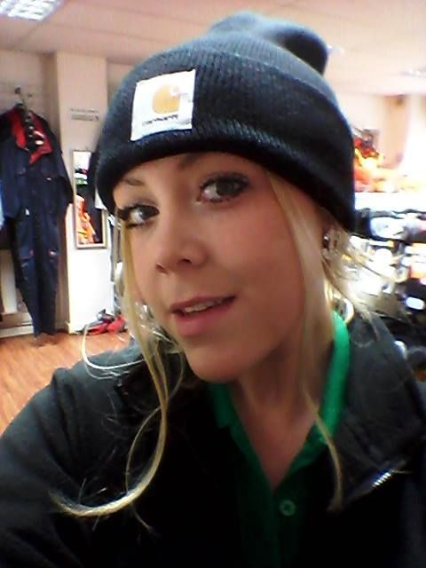 Here's our Sammy, taking a selfie in her Carhartt Beanie hat! ;-)