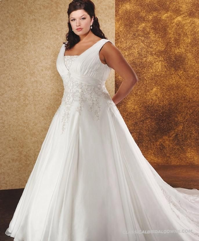 Wedding Dresses Cheap Lace Ballgown Gorgeous Satin Organza Square Princess With Embroidered