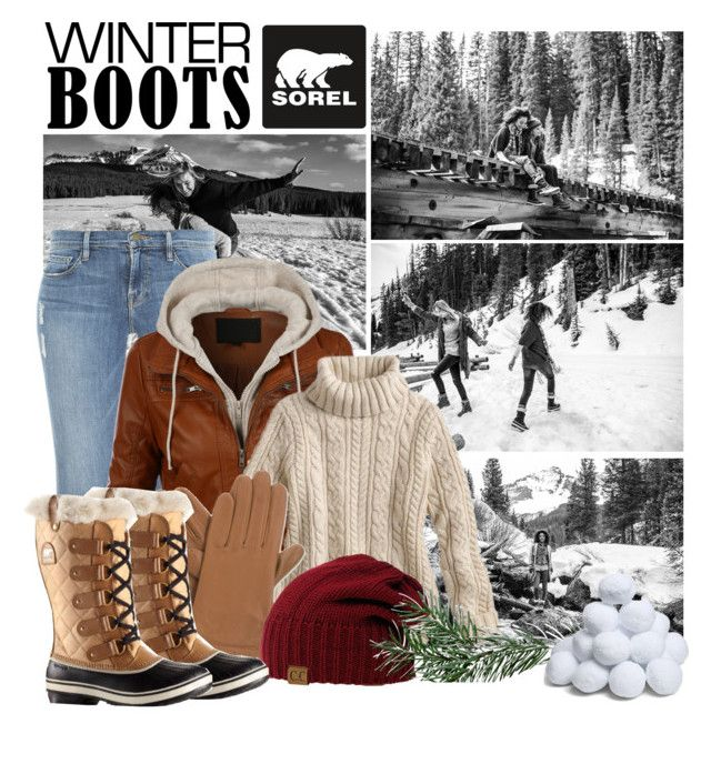 Introducing the 2015 Winter Collection from SOREL: Contest Entry by shakeyd23 on Polyvore featuring LE3NO, Frame Denim, SOREL and Isotoner
