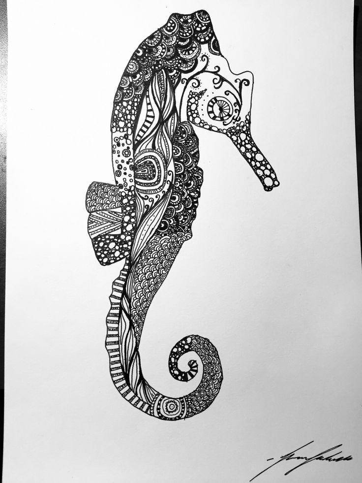 Abstract sea horse