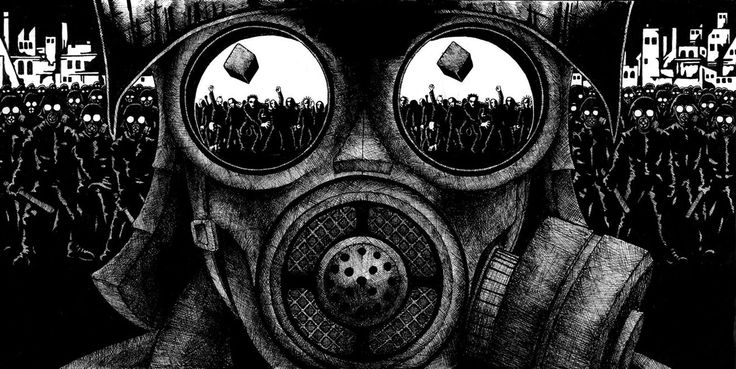 Gas mask - looks awesome.