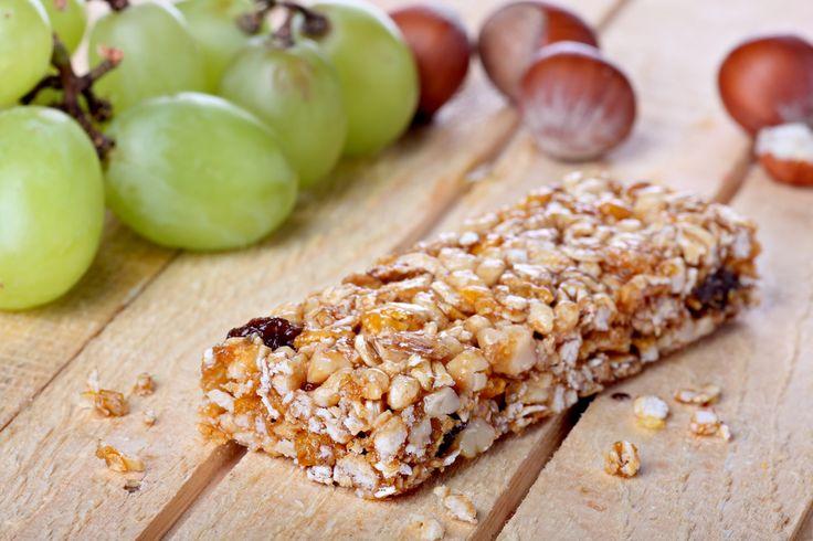 Barrette ai cereali con pezzetti di frutta