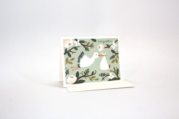 Painted Stork Card