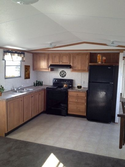 1000 images about mobile home renovation on pinterest for Mobile home kitchens pictures