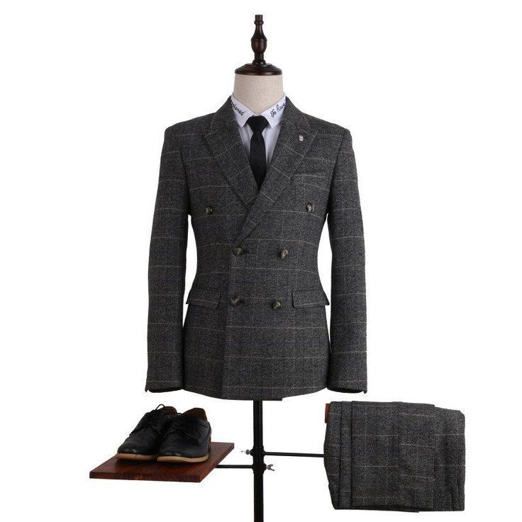 Custom Three Piece Plaid Print Men's Suit Notch Lapel  Classic Design Blazers-MZY02                                                                                                                                                                                 More
