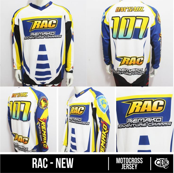 jersey Motocross RAC Sublimation Print  By Qita Design