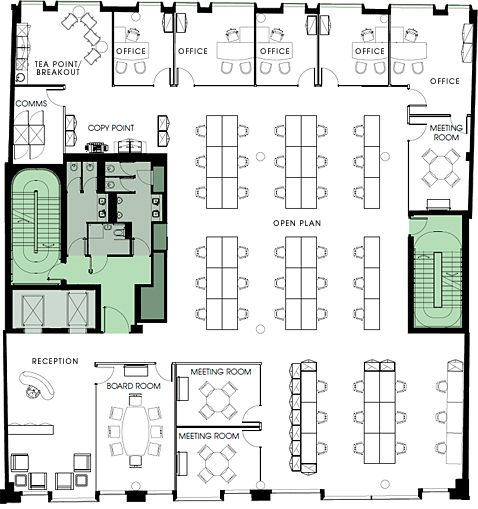 floor plan of office layout - Tìm với Google
