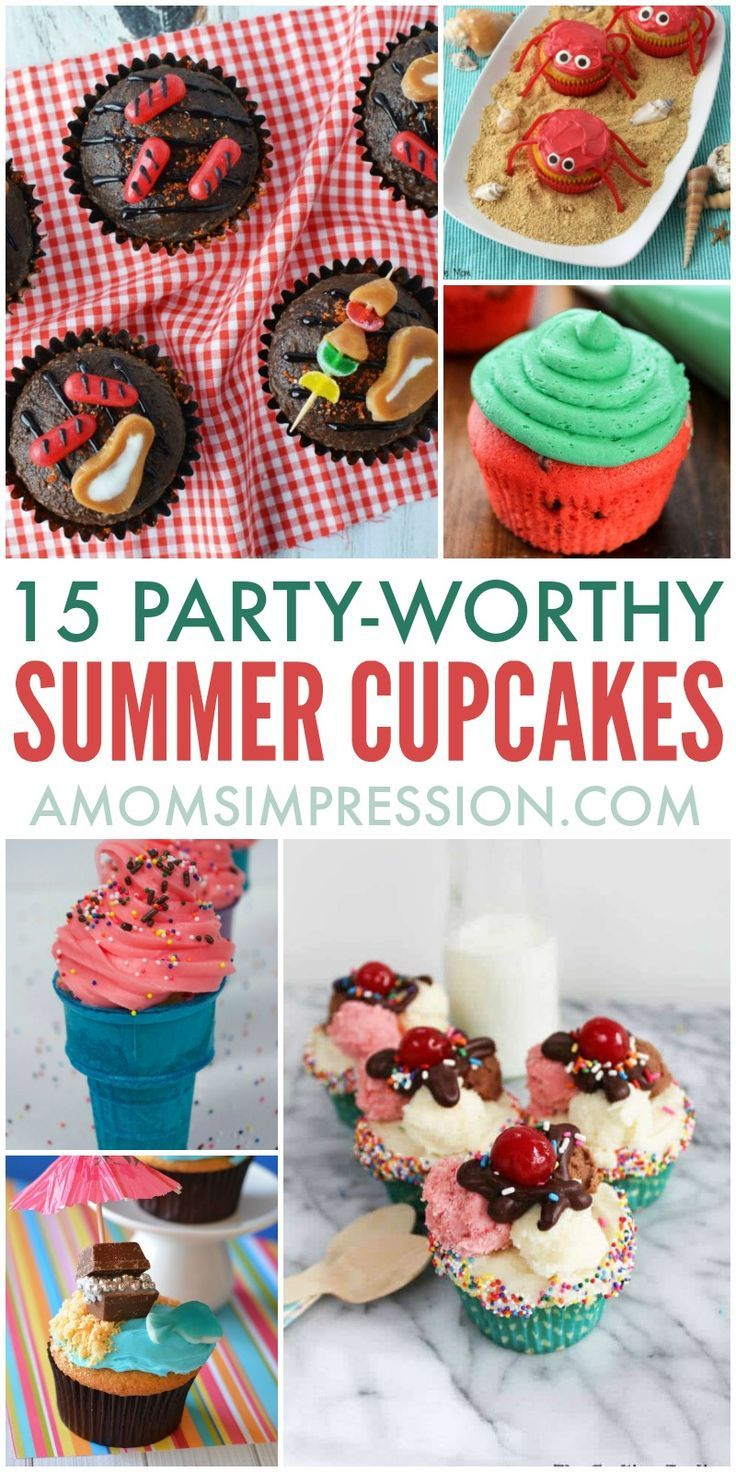 These Creative Summer Cupcake Recipes Feature Cute Decoration