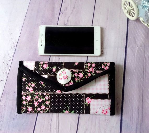 black credit card holder patchwork credit card case by chezvies