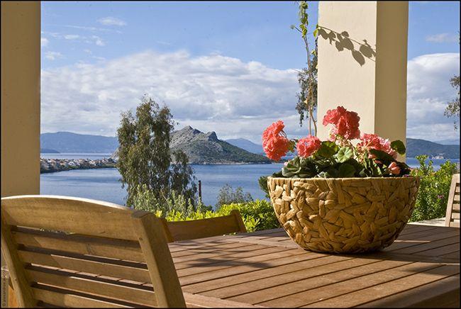 Angelika's Residence lower balcony view.