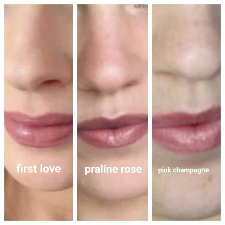 Lipsense comparison first love, praline rose and pink champagne   If I ever get on this bandwagon. Start here.