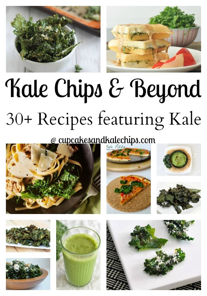 30+ Recipes for Kale Chips & Beyond | cupcakesandkalechips.com | #kalechips